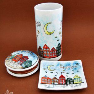 Blue Petal-Handmade Porcelain